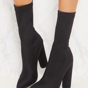 Pretty Little Thing Black  Heel  Boot